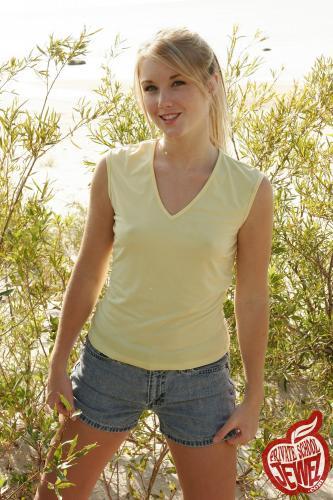 Privateschooljewel  041. Sand dunes jean shorts