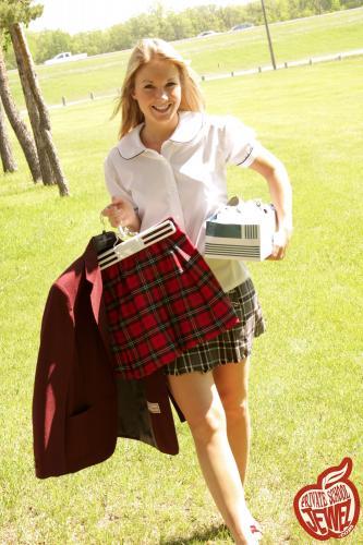 Privateschooljewel  004. Schoolgirl uniform outdoorsReal Street Angels