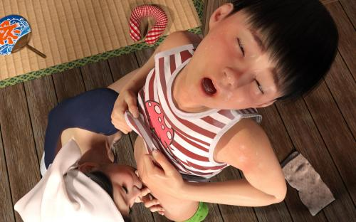 hentai [191103] [BlackK studio] 忘れられない夏~夏休みに遊びに行ったら まさか叔母さんと従妹と.!!? [RJ265546]