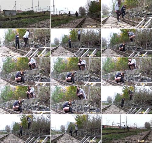 Naughty Girls Piss Near The Railway [UltraHD/4K 2160P]